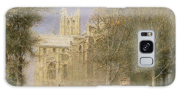 Place Of Worship Galaxy Case - Canterbury Cathedral by Albert Goodwin