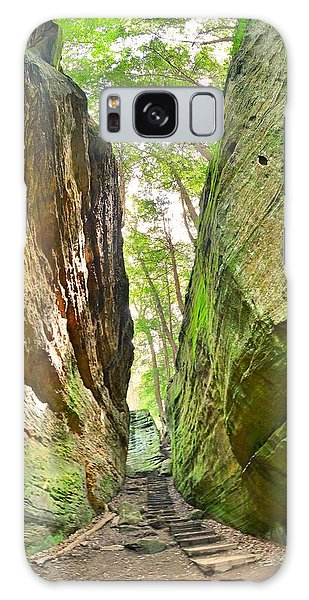 Cantwell Cliffs Trail Hocking Hills Ohio Galaxy Case