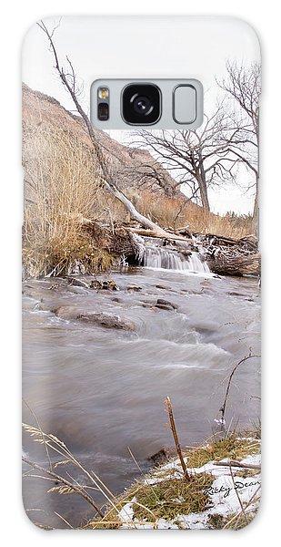 Canyon Stream Falls Galaxy Case by Ricky Dean