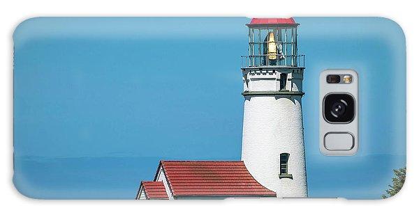 Cape Blanco Lighthouse At Cape Blanco, Oregon Galaxy Case