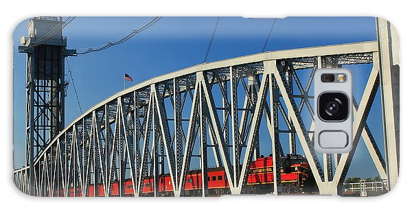 Cape Cod Canal Railroad Bridge Train Galaxy Case by John Burk