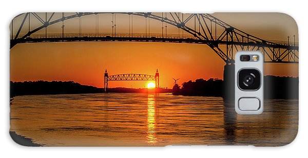 Cape Cod Canal Sunset Galaxy Case