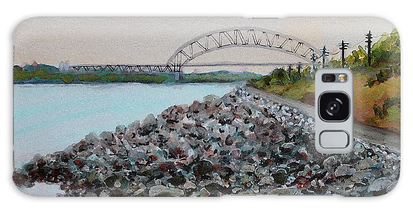Cape Cod Canal To The Bourne Bridge Galaxy Case