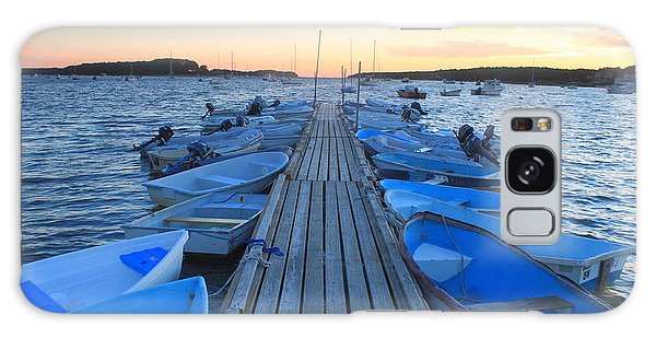 Cape Cod Harbor Boats Galaxy Case by John Burk
