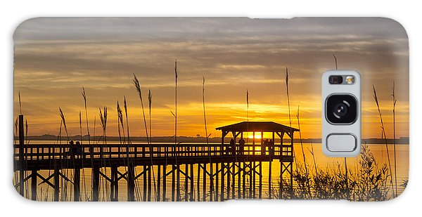 Cape Fear Sunset Fort Fisher Galaxy Case by Phil Mancuso