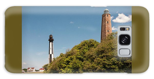 Cape Henry Lighthouses Old And New Galaxy Case