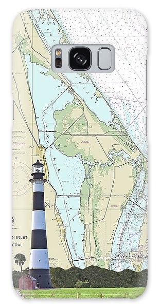 Cape Lighthouse On Chart Galaxy Case