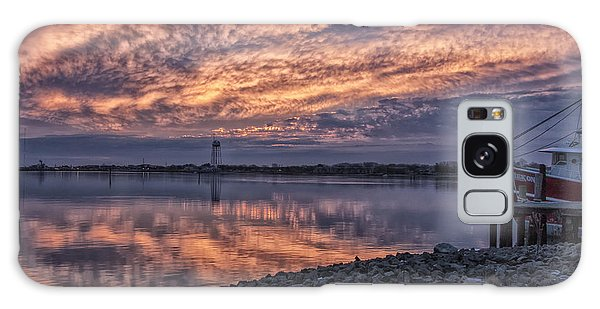 Cape May Harbor Sunrise Galaxy Case