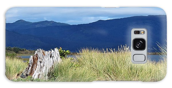 Sand Grass Mountains Sky Galaxy Case