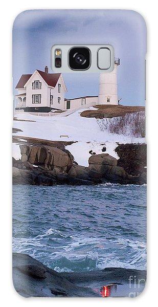 Cape Neddick Light At Dusk, York, Maine 21073 Galaxy Case