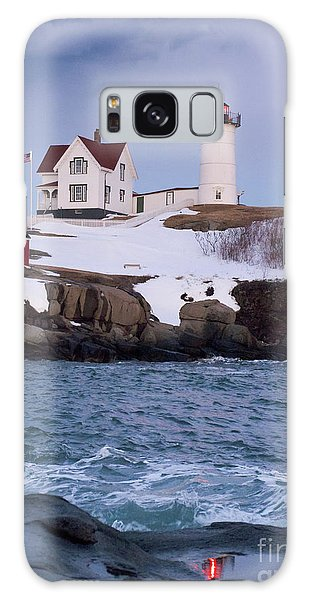 Cape Neddick Light At Dusk, York, Maine 21073 Galaxy Case