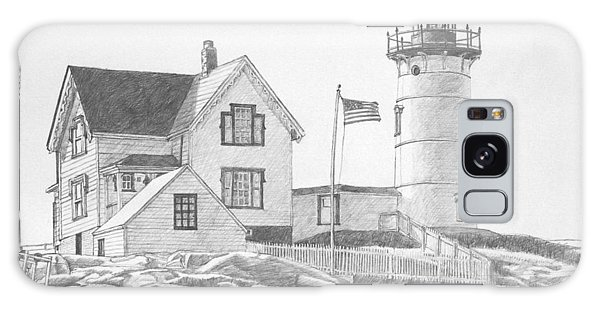 Cape Neddick Light House Drawing Galaxy Case