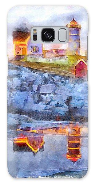 Cape Neddick Light Watercolor Galaxy Case