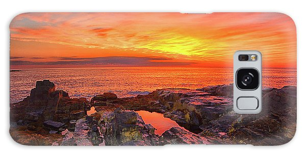 Cape Neddick Sunrise Galaxy Case