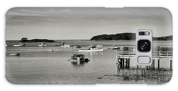Cape Porpoise Harbor Galaxy Case