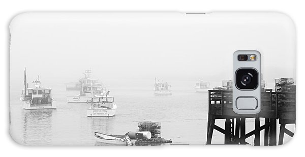 Cape Porpoise Lobster Boats In Fog Galaxy Case