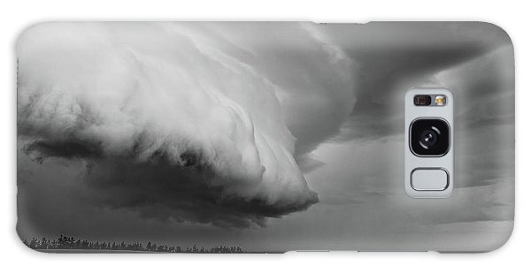 Galaxy Case featuring the photograph Cape Tyron Vortex Black And White by Edward Fielding