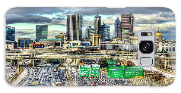 Capital Of The South Atlanta Skyline Cityscape Art Galaxy Case