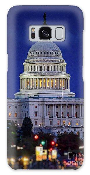 Capitol At Dusk Galaxy Case