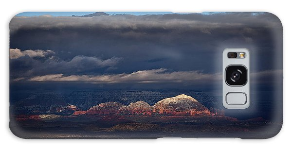 Capitol Butte In Sedona With Snow Galaxy Case