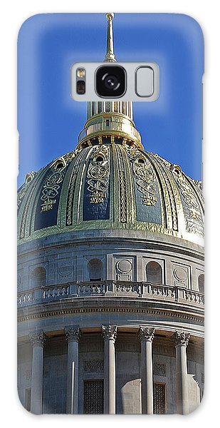 Capitol Dome Charleston Wv Galaxy Case by DigiArt Diaries by Vicky B Fuller