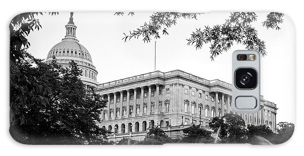 Capitol Lawn In Black And White Galaxy Case by Greg Mimbs