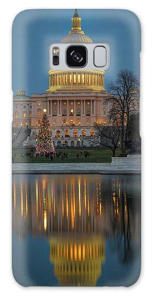 Capitol Reflection At Christmas Galaxy Case