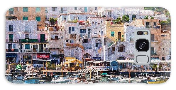 Capri Boat Harbor Galaxy Case