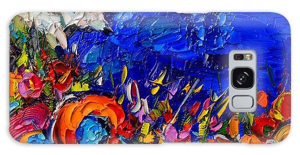Capri Faraglioni Italy Colors Modern Impressionist Palette Knife Oil Painting By Ana Maria Edulescu  Galaxy Case