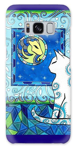Capricorn Cat Zodiac Galaxy Case