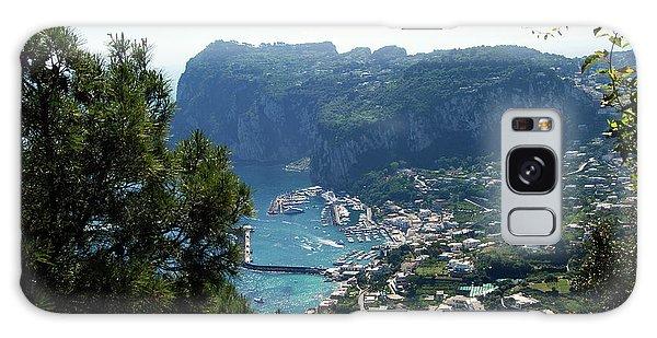 Capri's Marina Grande From The Villa San Michele In Anacapri Galaxy Case