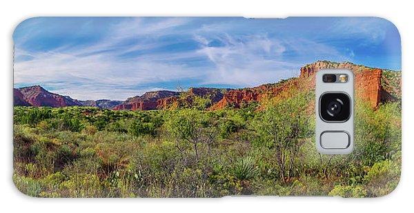 Caprock Canyon Panorama 2 Galaxy Case