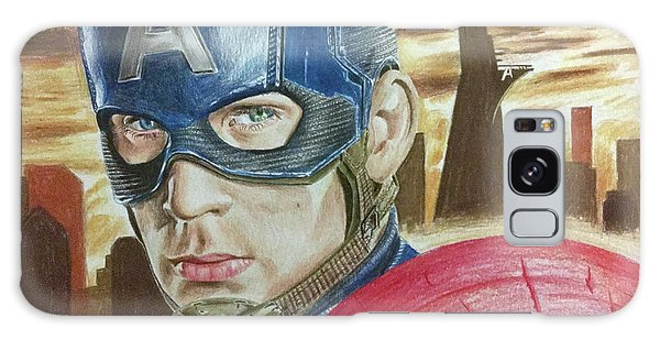Captain America Galaxy Case by Michael McKenzie