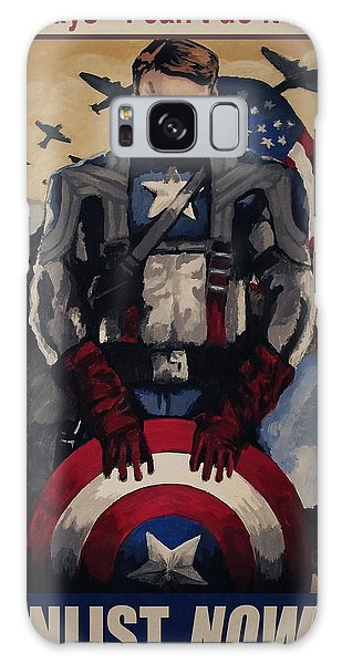 Captain America Recruiting Poster Galaxy Case