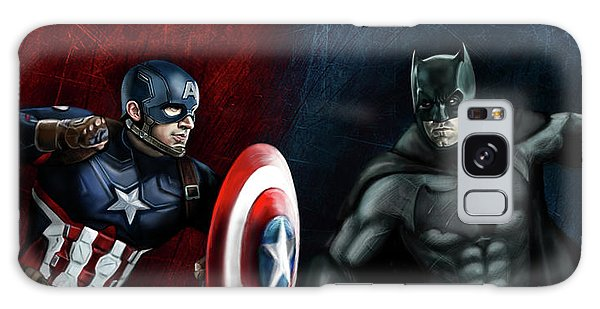 Captain America Vs Batman Galaxy Case by Vinny John Usuriello