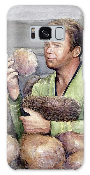 Science Fiction Galaxy Case - Captain Kirk And Tribbles by Olga Shvartsur