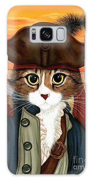 Galaxy Case featuring the painting Captain Leo - Pirate Cat And Rat by Carrie Hawks