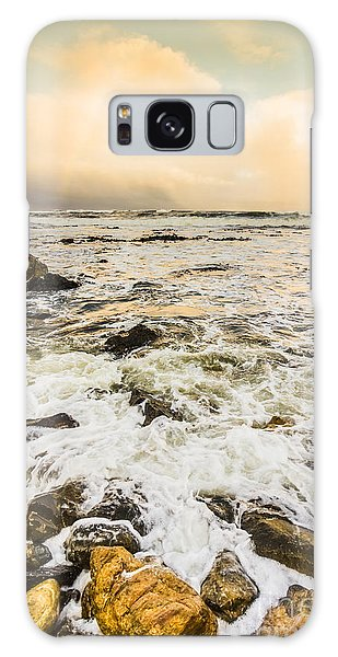 Breaking Dawn Galaxy Case - Captivating Coastal Sunrise by Jorgo Photography - Wall Art Gallery