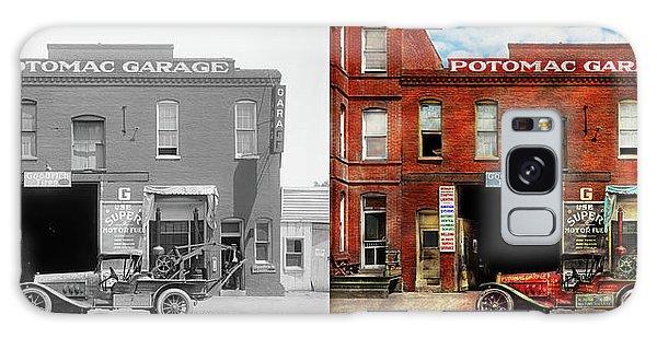 Car - Garage - Misfit Garage 1922 - Side By Side Galaxy Case by Mike Savad