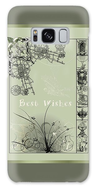 Card Best Wishes Galaxy Case by Robert G Kernodle