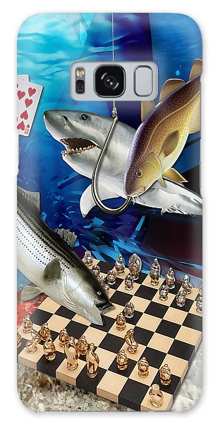 Card Shark And One On The Hook Galaxy Case