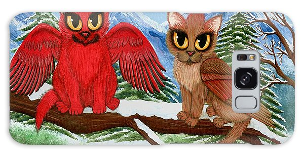 Cardinal Cats Galaxy Case by Carrie Hawks