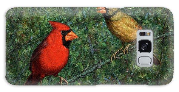 Cardinal Galaxy Case - Cardinal Couple by James W Johnson