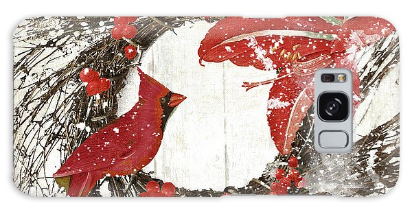 Amaryllis Galaxy Case - Cardinal Holiday I by Mindy Sommers