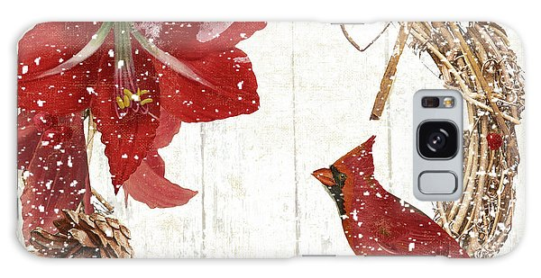 Amaryllis Galaxy Case - Cardinal Holiday II by Mindy Sommers