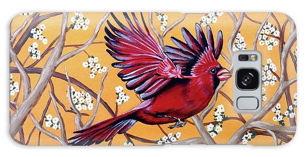 Cardinal In Flight Galaxy Case