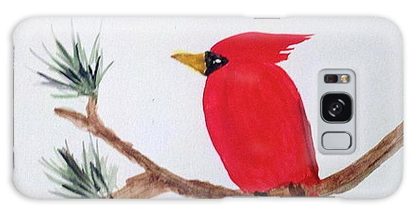 Cardinal In My Backyard Galaxy Case