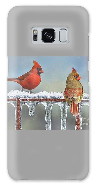 Cardinals And Icicles Galaxy Case