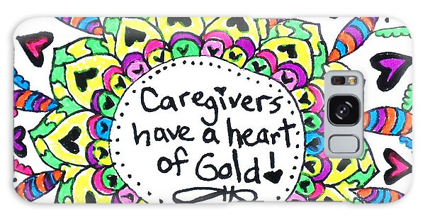 Caregiver Flower Galaxy Case