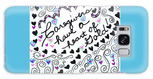 Caregiver Hearts Galaxy Case